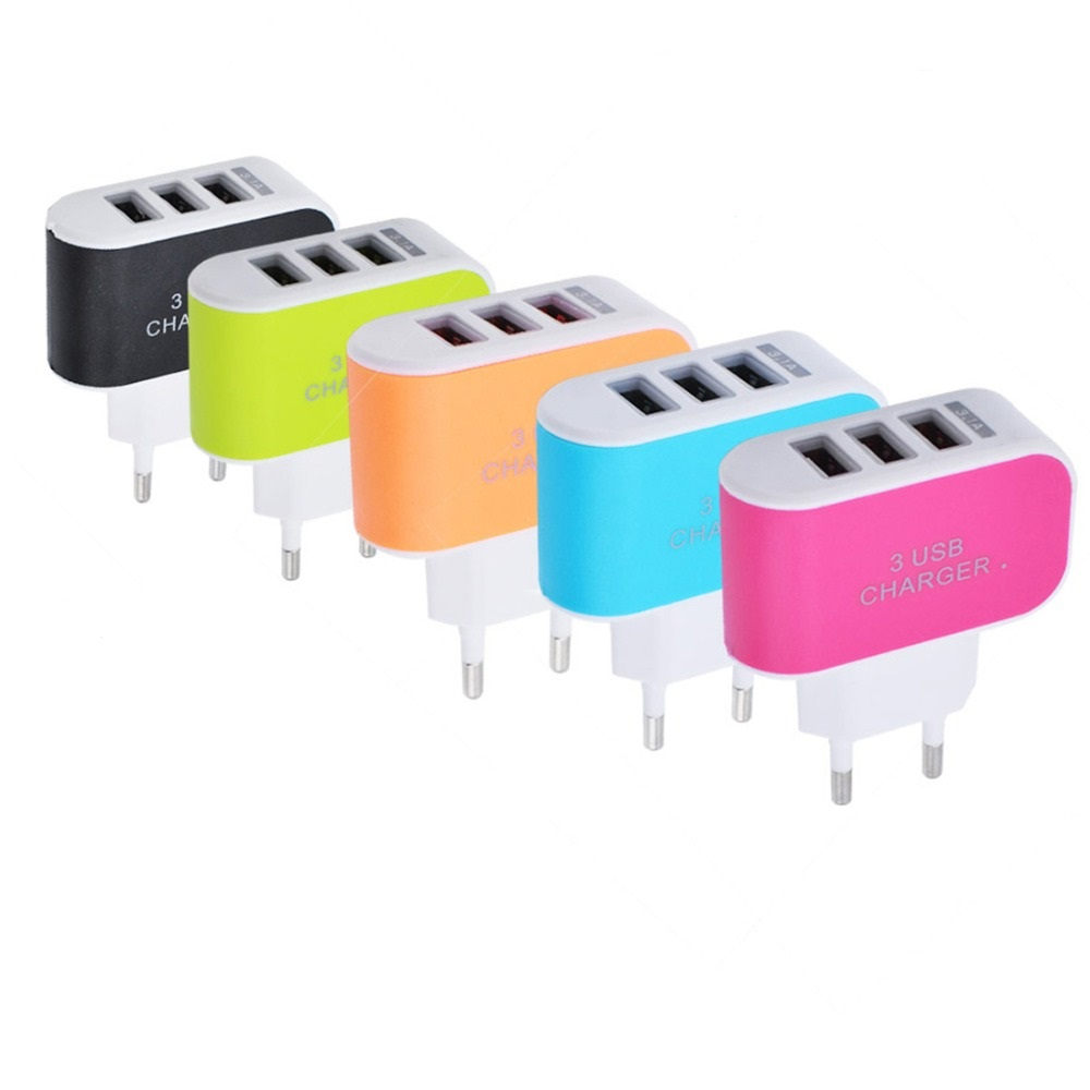 Candy-Color-5V-3-1A-3USB-Port-Home-Travel-AC-Wall-Power-Charger-Adapter-USB-Charger