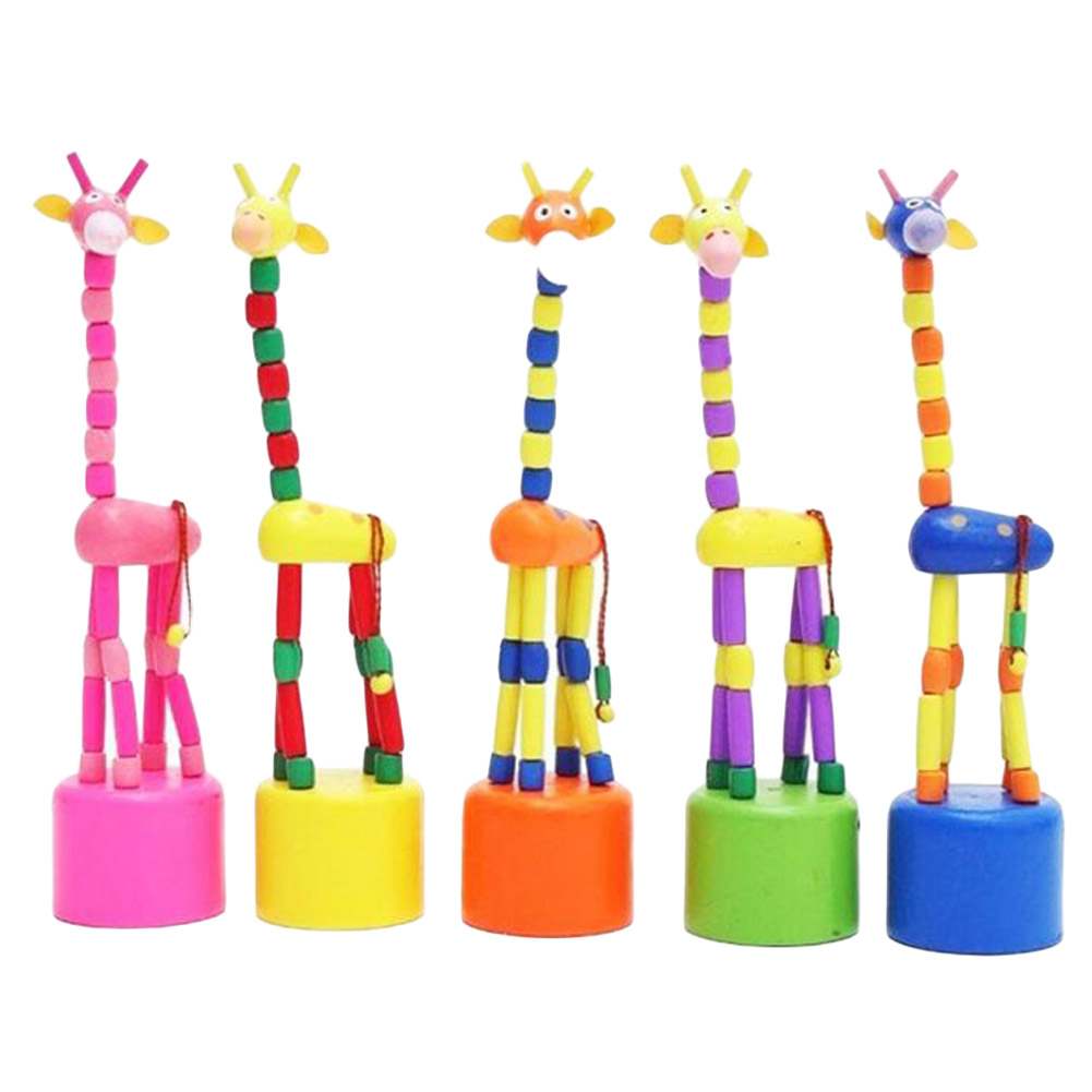 Kids-Intelligence-Toy-Dancing-Stand-Colorful-Rocking-Giraffe-Wooden-Toy-Levert-Dropship-Color-Random