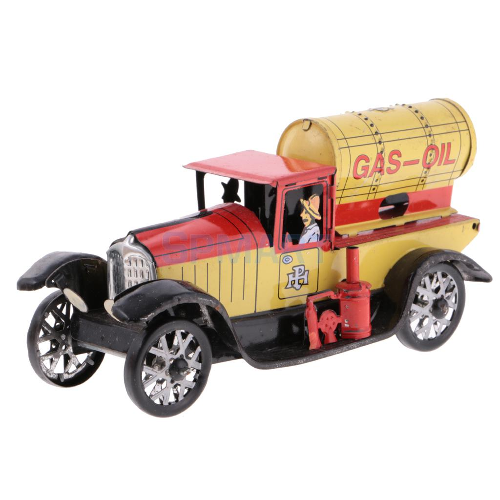 Vintage-Gas-oil-Truck-Model-Wind-up-Clockwork-Tin-Toy-Collectible-Gift-for-Kids-Children-Adult