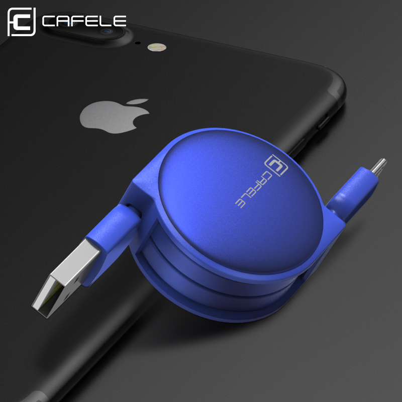 Samonavíjecí luxusní Micro USB kabel - tmavě modrá
